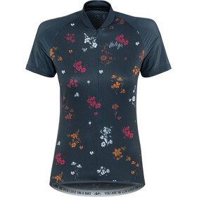 Maloja ViagravaM. AOP Fietsshirt Korte Mouwen Dames, mountain lake mountain meadow